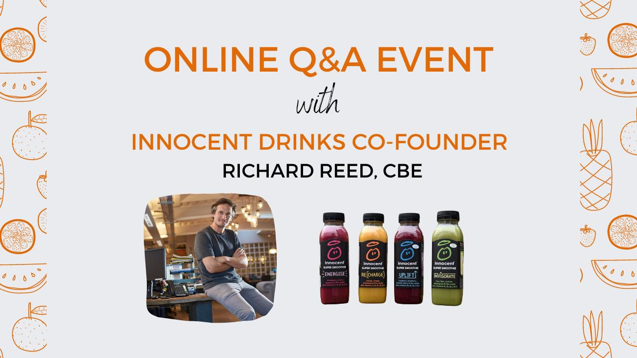 Innocent Drinks Co-Founder announced as special guest at University of Exeter Q&A event