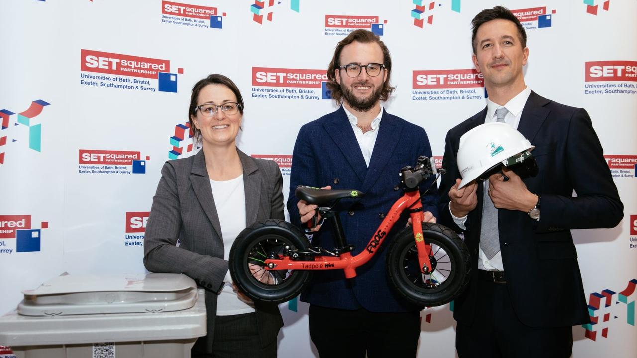 A bin, a bike and a hard hat or the latest cutting-edge tech innovations?