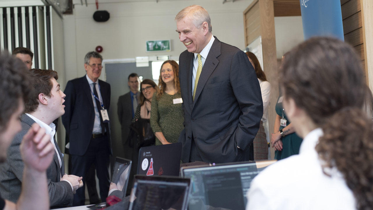 Duke of York meets Exeter's rising stars of UK entrepreneurship
